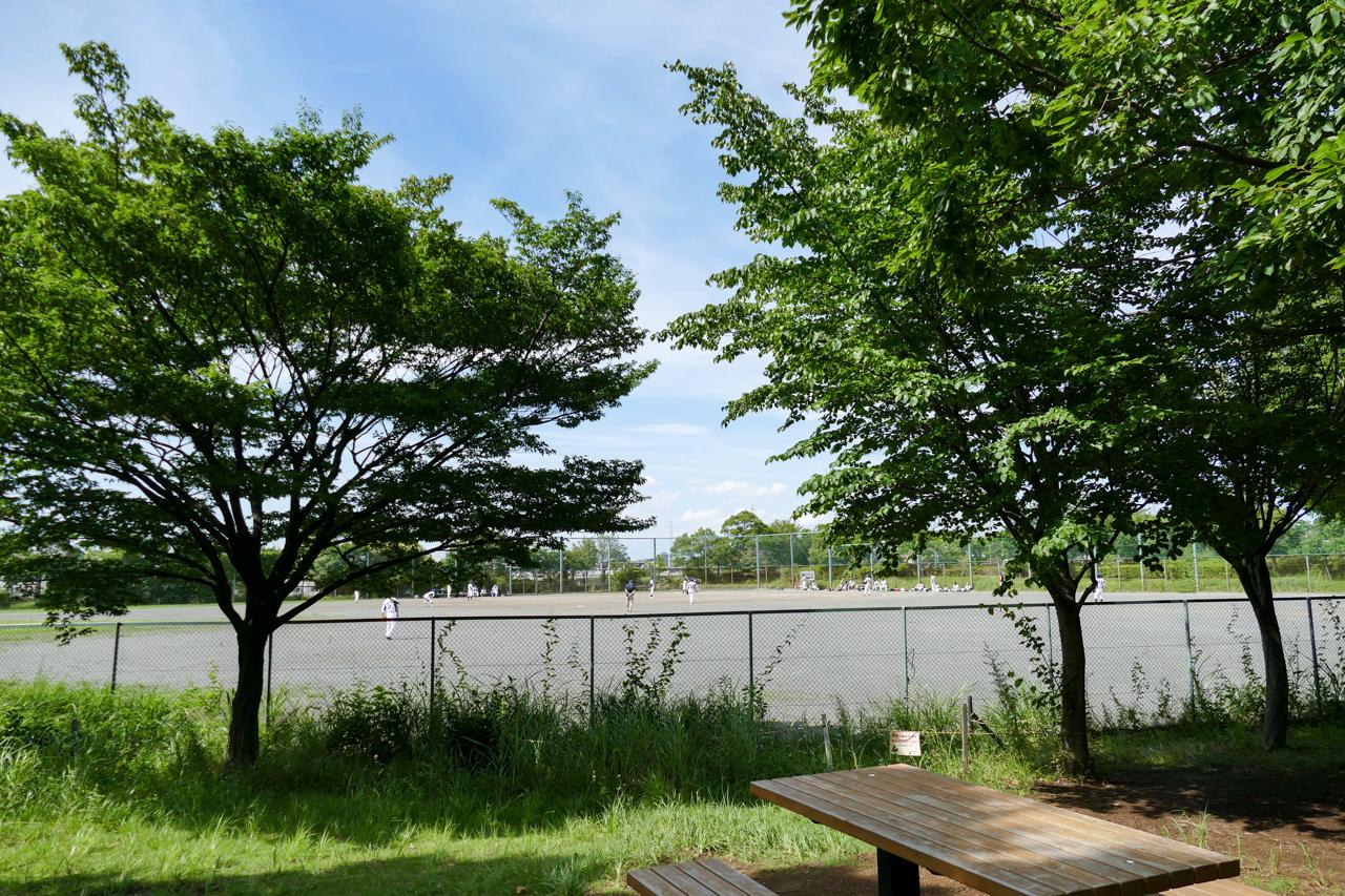 太尾公園の野球場