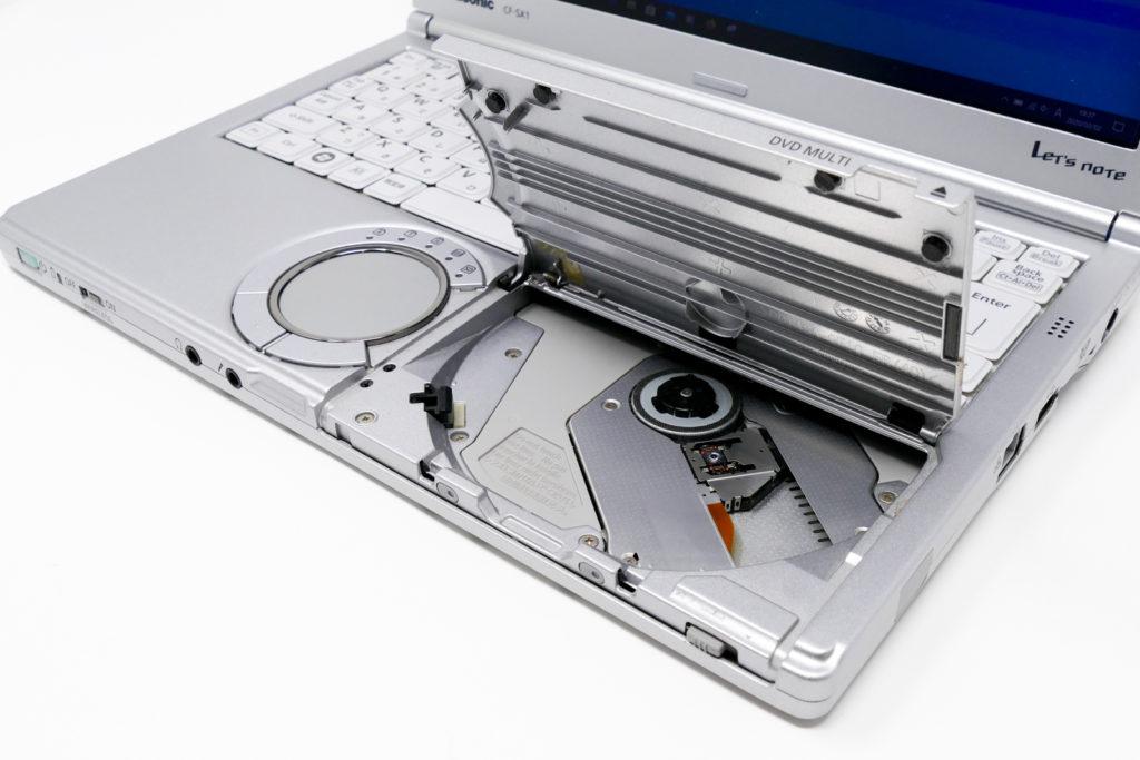 Let's note CF-SX1のDVDドライブ