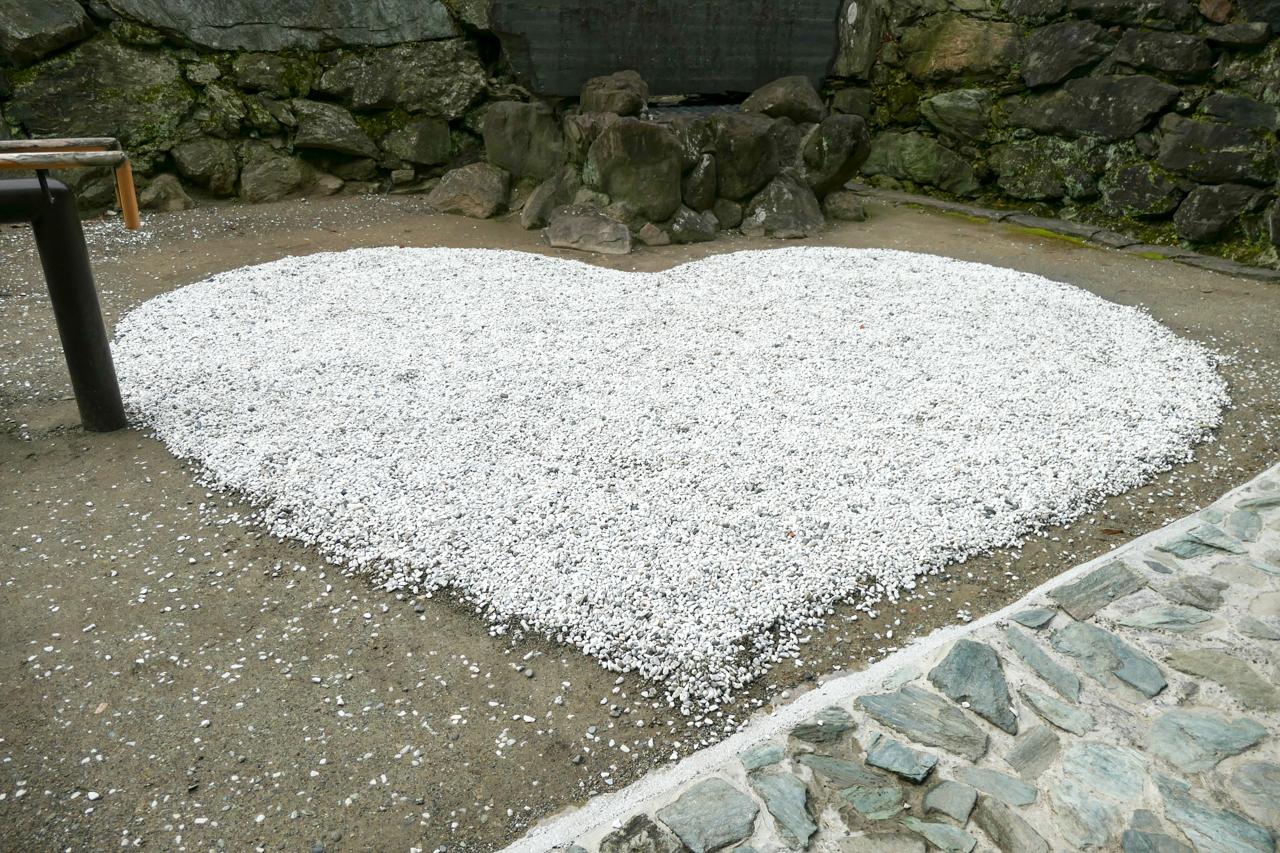 和歌山城のハートの玉砂利