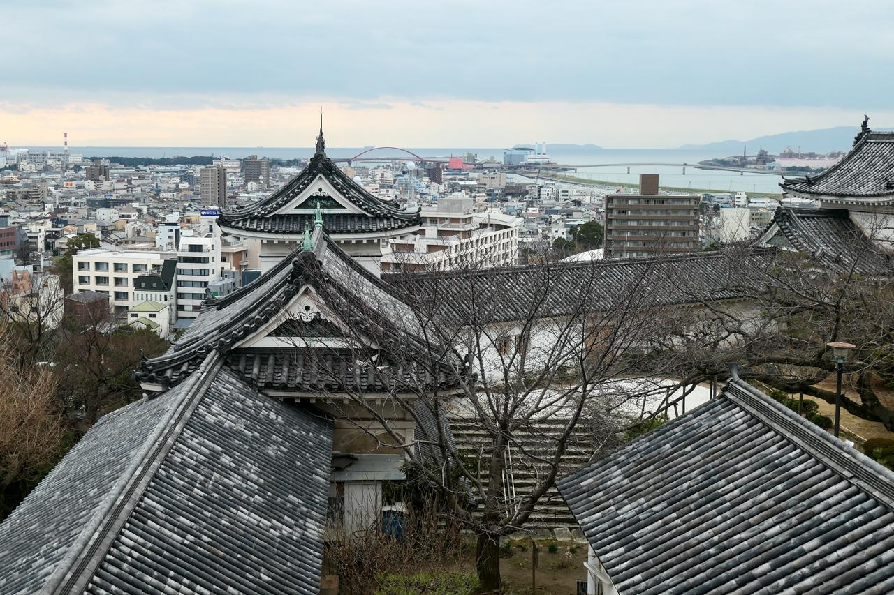 和歌山城からの眺め