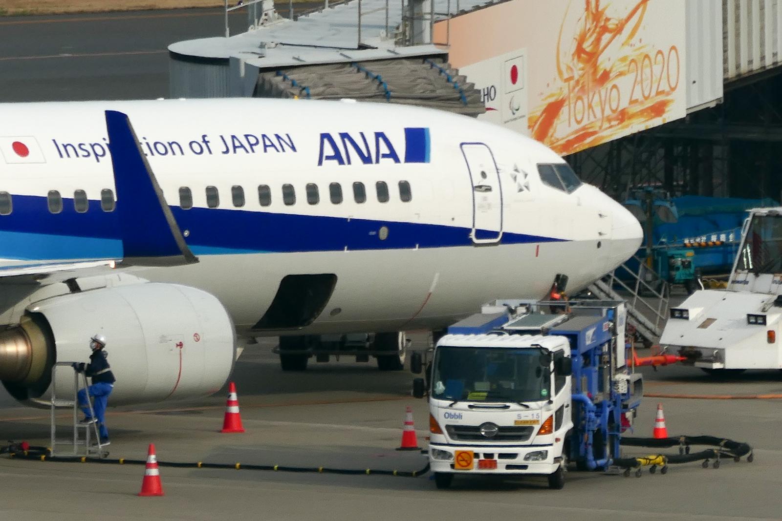 DC-TX2で羽田空港の飛行機
