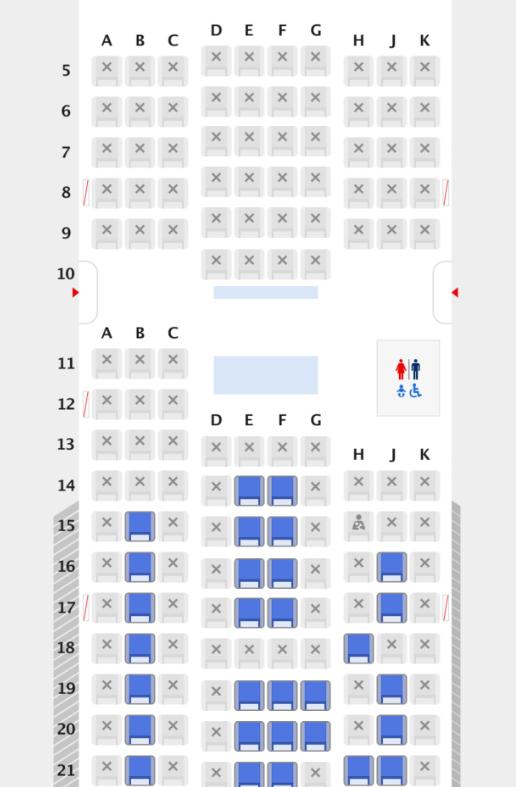 スーパーフライヤーズ会員の指定可能座席